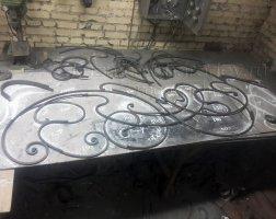 Сборка кованых перил в кузнице