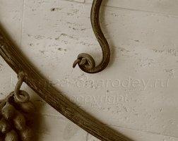 Элемент кованых перил декоративная лоза