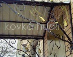 Козырек кованый kkz-11