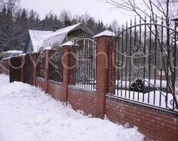 Забор кованый kz-35