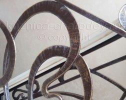 Изгибы металла в кованом изделии
