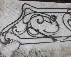 Сборка кованых перил по эскизу в кузнице