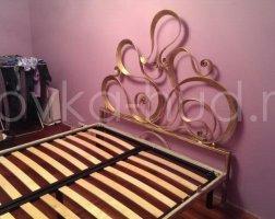Роскошная кровать кованая rk-0907