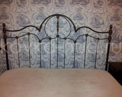 Роскошная кровать кованая rk-0923