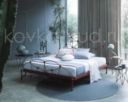 Роскошная кровать кованая rk-0934
