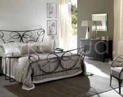 Роскошная кровать кованая rk-0936