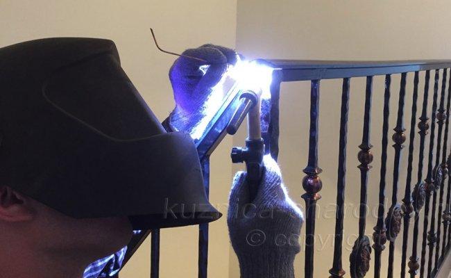 Монтаж готовых кованых перил у заказчика