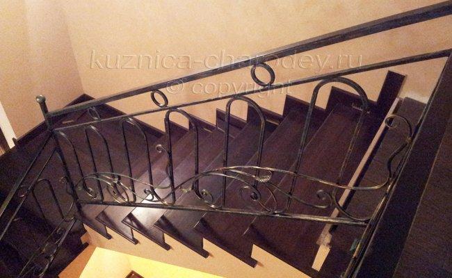 Лестничные перила кованые