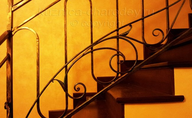 Перила для лестницы, ковка