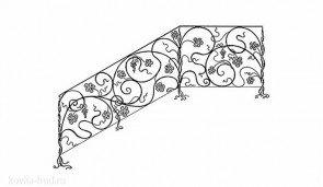 Кованые перила эскиз №16