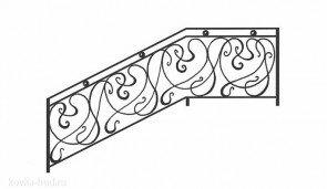 Кованые перила эскиз №2