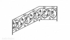 Кованые перила эскиз №36