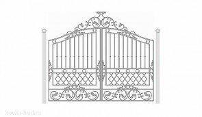 Кованые ворота эскиз №11