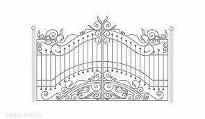 Кованые ворота эскиз №13