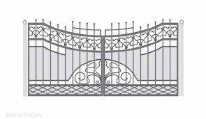 Кованые ворота эскиз №21