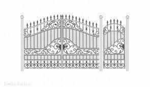 Кованые ворота эскиз №23