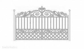Кованые ворота эскиз №26