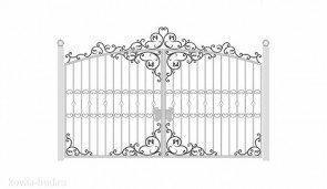 Кованые ворота эскиз №33