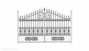 Кованые ворота эскиз №35