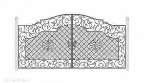Кованые ворота эскиз №36