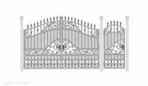 Кованые ворота эскиз №38