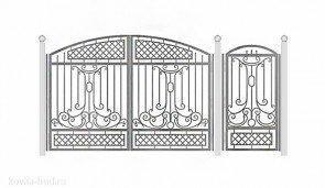 Кованые ворота эскиз №44