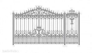 Кованые ворота эскиз №45
