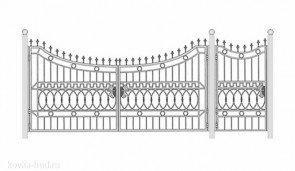 Кованые ворота эскиз №46