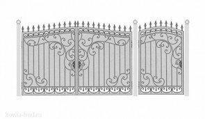 Кованые ворота эскиз №47