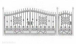 Кованые ворота эскиз №48