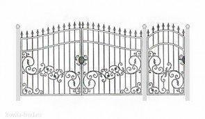 Кованые ворота эскиз №49