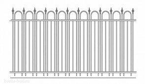 Кованый забор эскиз №11