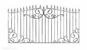 Кованый забор эскиз №14