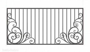 Кованый забор эскиз №17