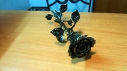 Золото кованая роза 3